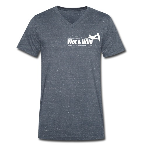 WETWILD LOGO White - Männer Bio-T-Shirt mit V-Ausschnitt von Stanley & Stella
