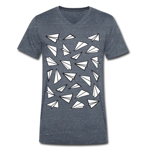 Paper Planes - Men's Organic V-Neck T-Shirt by Stanley & Stella
