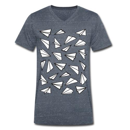 Paper Planes - Mannen bio T-shirt met V-hals van Stanley & Stella