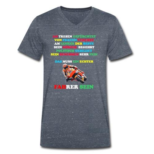 El Villano Design - Männer Bio-T-Shirt mit V-Ausschnitt von Stanley & Stella