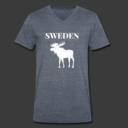 Sweden Moose Sverige - Männer Bio-T-Shirt mit V-Ausschnitt von Stanley & Stella