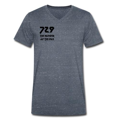 729 grande nero - T-shirt ecologica da uomo con scollo a V di Stanley & Stella