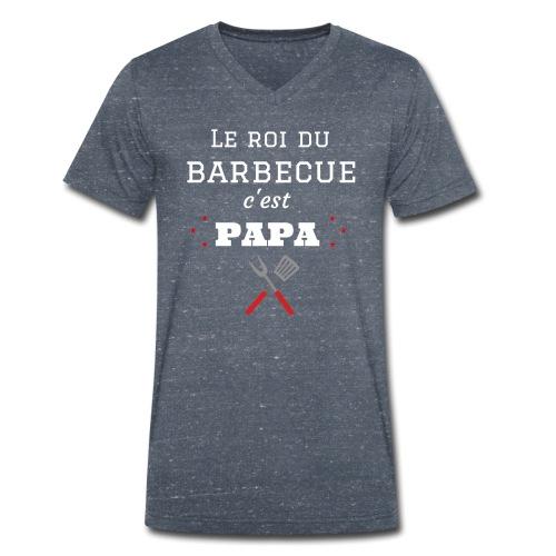 t-shirt fete des pères roi du barbecue c'est papa - T-shirt bio col V Stanley & Stella Homme