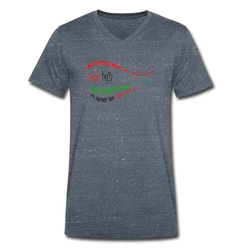 Malcom X citation - T-shirt bio col V Stanley & Stella Homme