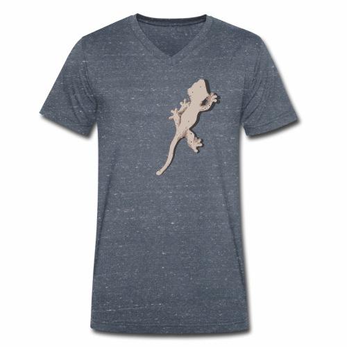 Crested Gecko - Männer Bio-T-Shirt mit V-Ausschnitt von Stanley & Stella