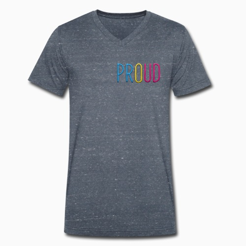 Proud Pansexual - Men's Organic V-Neck T-Shirt by Stanley & Stella