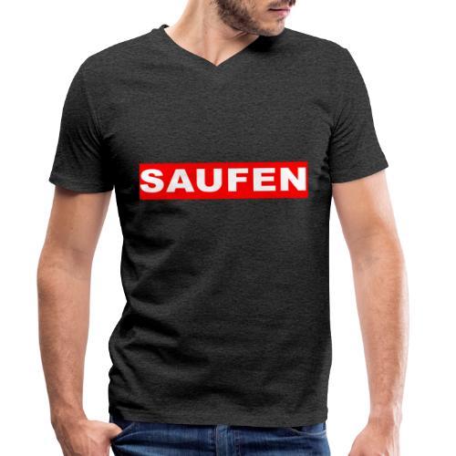 SAUFEN - Männer Bio-T-Shirt mit V-Ausschnitt von Stanley & Stella