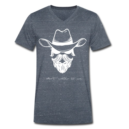 Don White - Camiseta ecológica hombre con cuello de pico de Stanley & Stella