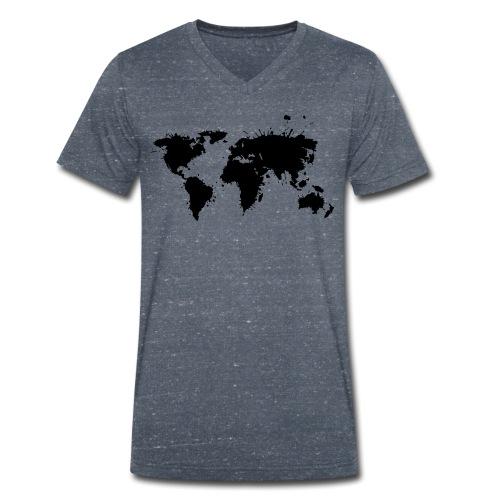 Weltkarte Splash - Männer Bio-T-Shirt mit V-Ausschnitt von Stanley & Stella