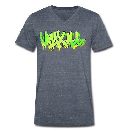 Graffiti | GREEN - Men's Organic V-Neck T-Shirt by Stanley & Stella