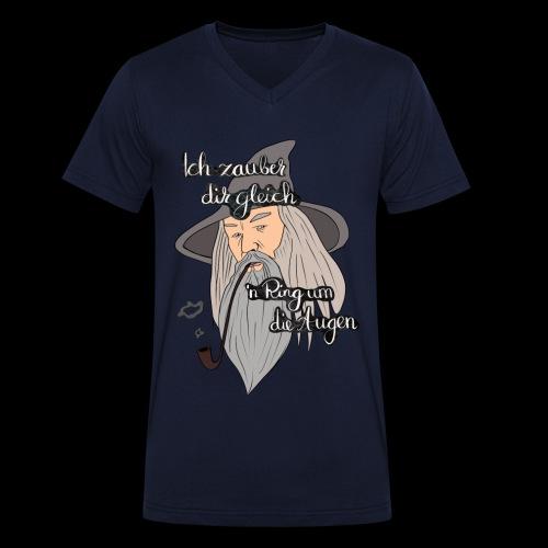 Ich zauber dir gleich nen Ring um die Augen - Männer Bio-T-Shirt mit V-Ausschnitt von Stanley & Stella