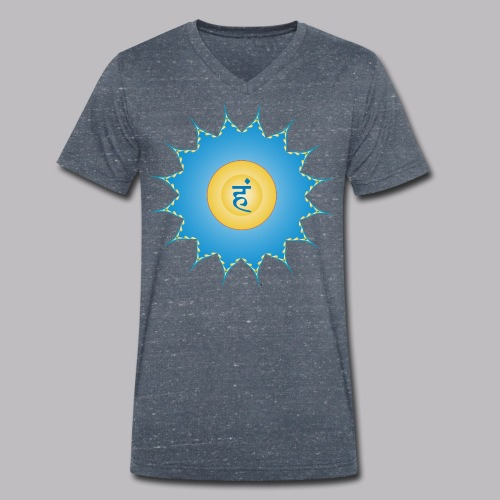 vishudda chakra - T-shirt ecologica da uomo con scollo a V di Stanley & Stella