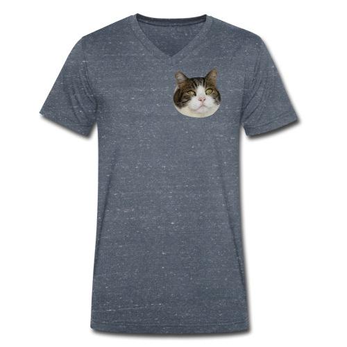 Toby's face design - Men's Organic V-Neck T-Shirt by Stanley & Stella
