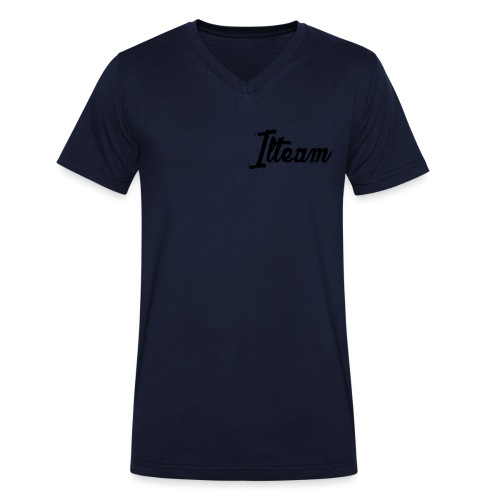 Ilteam Black and White - T-shirt bio col V Stanley & Stella Homme