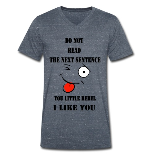 Do not read the next sentence - Men's Organic V-Neck T-Shirt by Stanley & Stella
