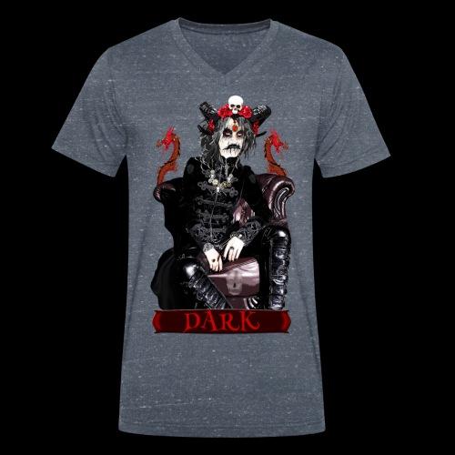 Créature gothique assise avec crânes et dragons - T-shirt bio col V Stanley & Stella Homme
