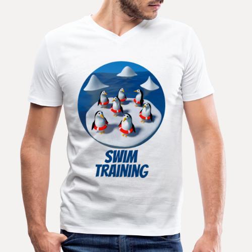 Pinguine beim Schwimmunterricht - Men's Organic V-Neck T-Shirt by Stanley & Stella