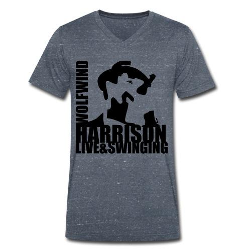 harrison 2 rats live vector - Men's Organic V-Neck T-Shirt by Stanley & Stella