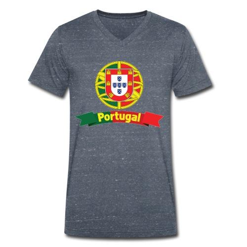 Portugal Campeão Europeu Camisolas de Futebol - Men's Organic V-Neck T-Shirt by Stanley & Stella