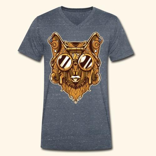Wolf - Männer Bio-T-Shirt mit V-Ausschnitt von Stanley & Stella