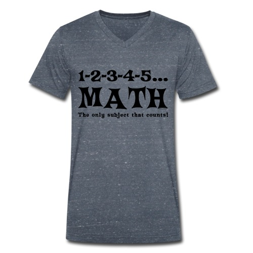 Black Math Counts - Men's Organic V-Neck T-Shirt by Stanley & Stella