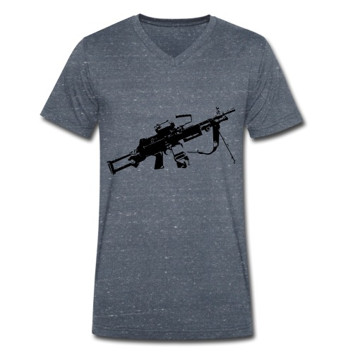 FN Minimi Para machine gun M249 SAW Kulspruta 90 - Ekologisk T-shirt med V-ringning herr från Stanley & Stella