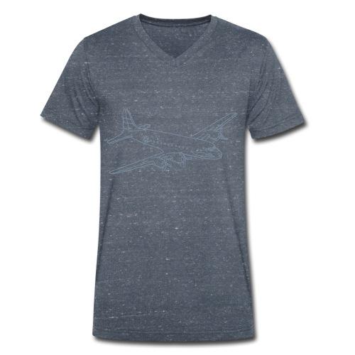 Flugzeug - Männer Bio-T-Shirt mit V-Ausschnitt von Stanley & Stella
