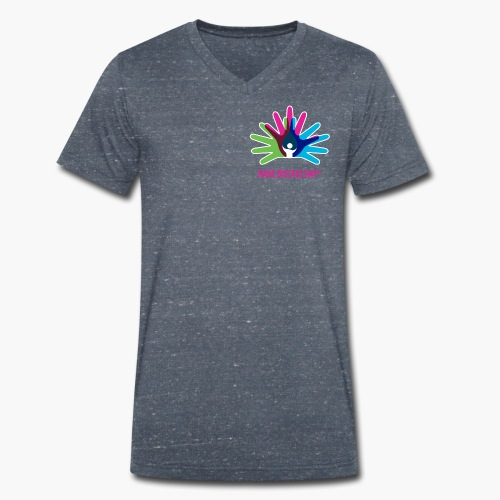 Rare Disease Day - Men's Organic V-Neck T-Shirt by Stanley & Stella