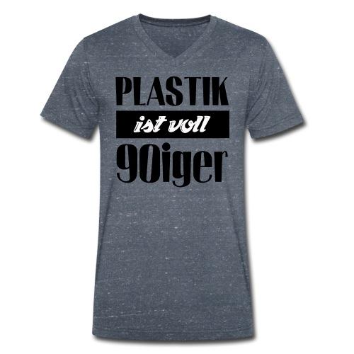 Plastik ist voll 90iger - Männer Bio-T-Shirt mit V-Ausschnitt von Stanley & Stella