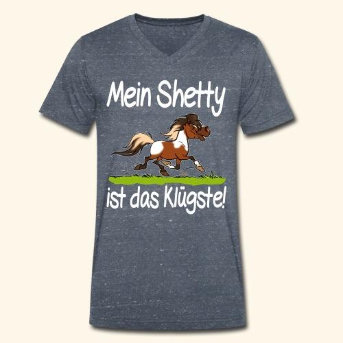 Mein Shetty das Klugste (Text weiss - T-shirt bio col V Stanley & Stella Homme