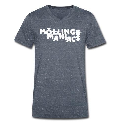Möllinge Maniacs Vit logga - Ekologisk T-shirt med V-ringning herr från Stanley & Stella
