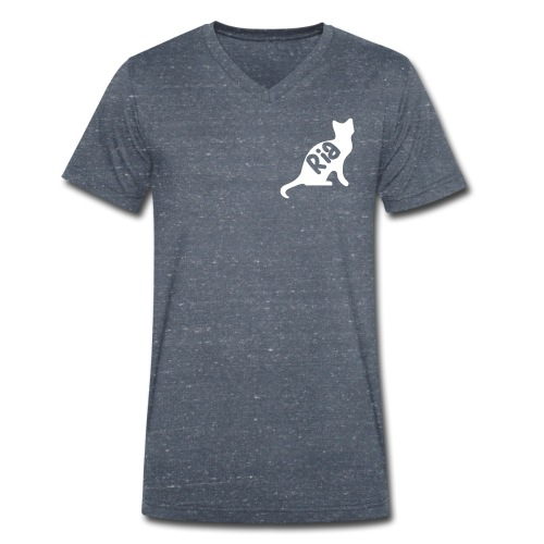 Team Ria Cat - Men's Organic V-Neck T-Shirt by Stanley & Stella