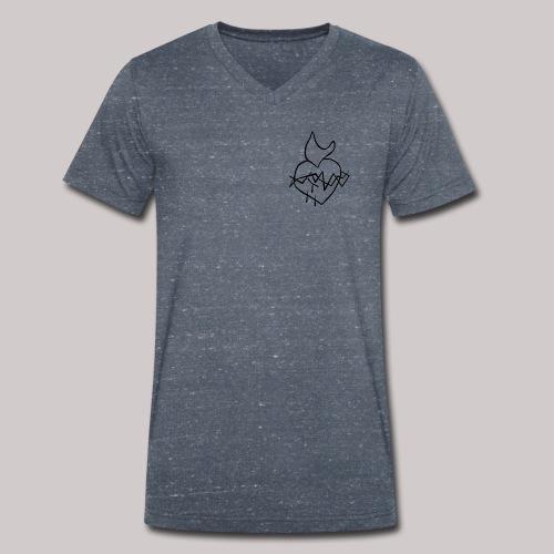 Sagrado Corazón de Jesús - Camiseta ecológica hombre con cuello de pico de Stanley & Stella
