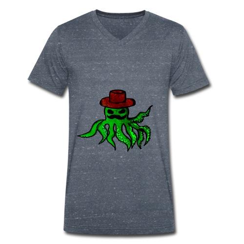 Polpo con cappello - T-shirt ecologica da uomo con scollo a V di Stanley & Stella