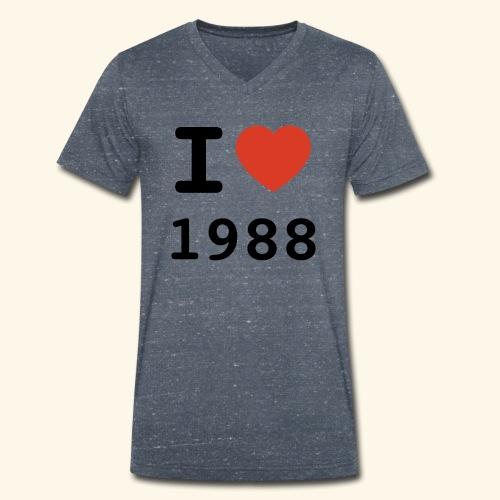 I Love 88 b 001 - Männer Bio-T-Shirt mit V-Ausschnitt von Stanley & Stella