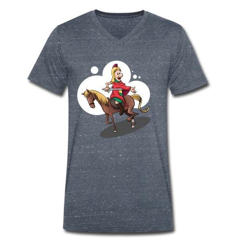 Sankt Martin auf dem Pferd - Männer Bio-T-Shirt mit V-Ausschnitt von Stanley & Stella