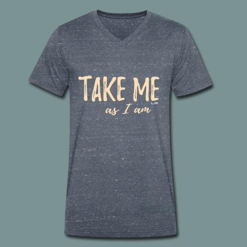 Take me! by pEMIEL - Mannen bio T-shirt met V-hals van Stanley & Stella