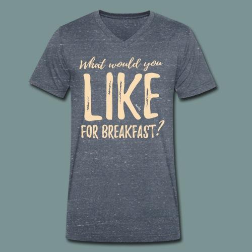 Breakfast by pEMIEL - Mannen bio T-shirt met V-hals van Stanley & Stella