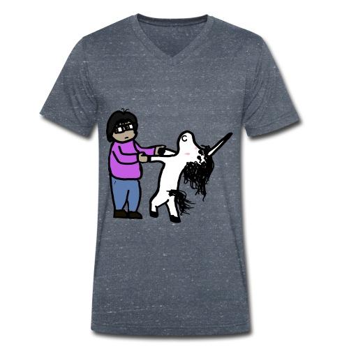 Unicorn Veñ - T-shirt ecologica da uomo con scollo a V di Stanley & Stella