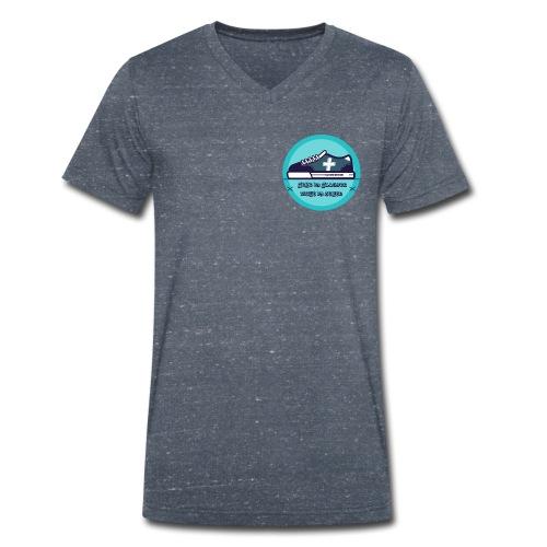 Gehe im Glauben nicht im Sehen - Männer Bio-T-Shirt mit V-Ausschnitt von Stanley & Stella