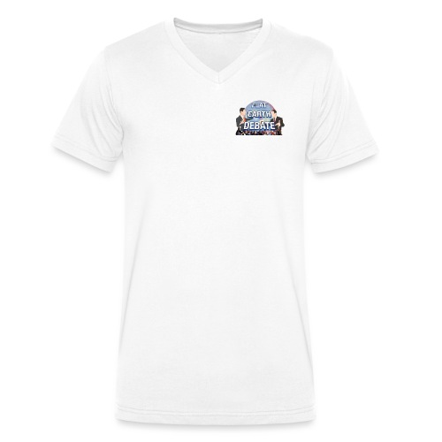Flat Earth Debate Transparent - Men's Organic V-Neck T-Shirt by Stanley & Stella