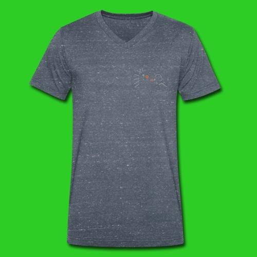 Igel und Maus abstrakt - Männer Bio-T-Shirt mit V-Ausschnitt von Stanley & Stella