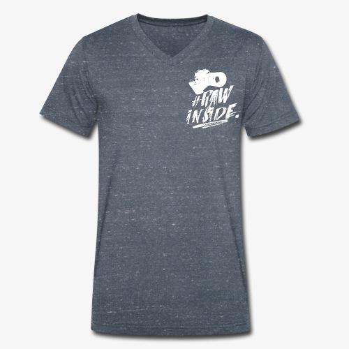 RAW INSIDE wte - T-shirt ecologica da uomo con scollo a V di Stanley & Stella