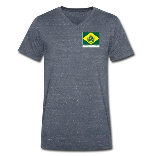 Brazil 200 years independence - Økologisk T-skjorte med V-hals for menn fra Stanley & Stella