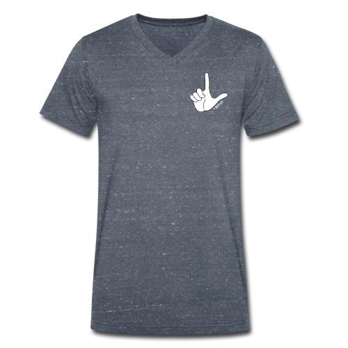 DedoBigEla - Camiseta ecológica hombre con cuello de pico de Stanley & Stella