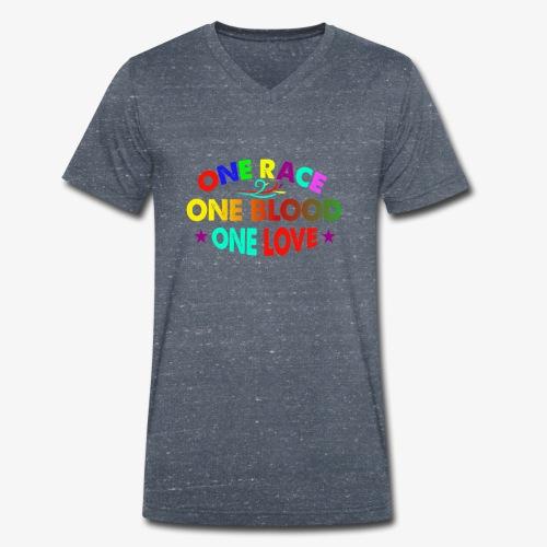 One Love reggae - Men's Organic V-Neck T-Shirt by Stanley & Stella