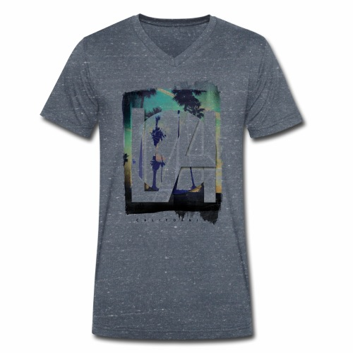 LA California - Men's Organic V-Neck T-Shirt by Stanley & Stella