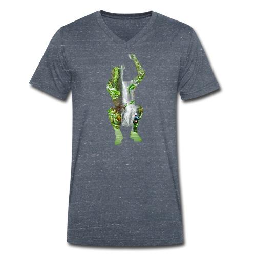 Jump into Adventure - Männer Bio-T-Shirt mit V-Ausschnitt von Stanley & Stella