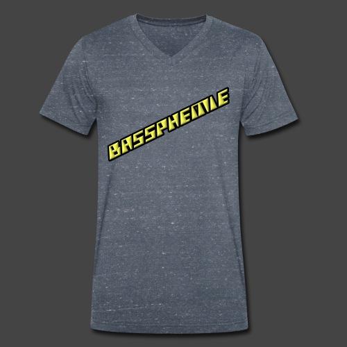 Bassphemie - Neongelb - Männer Bio-T-Shirt mit V-Ausschnitt von Stanley & Stella