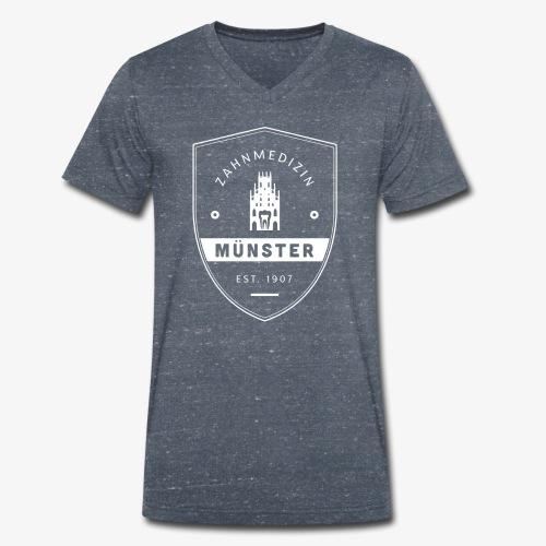 Fachschaftslogo 2015 weiß - Männer Bio-T-Shirt mit V-Ausschnitt von Stanley & Stella